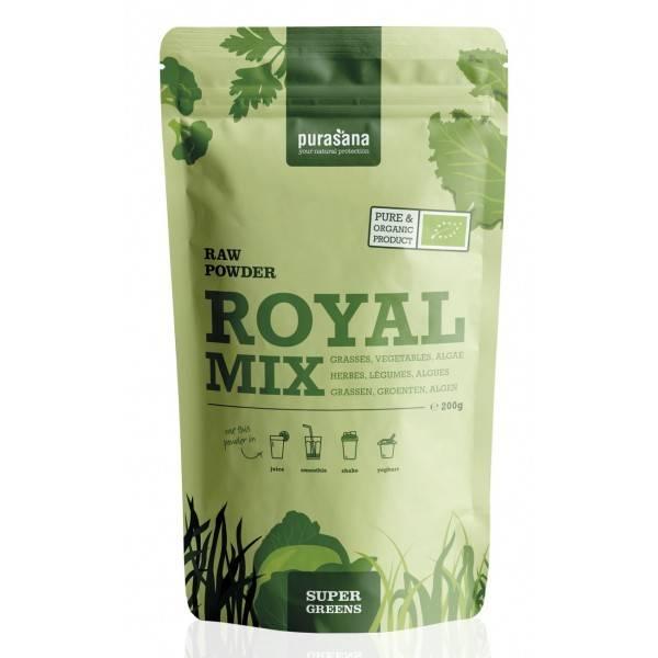 purasana-greens-royal-mix-grasses-vegetables-algae-mix-raw-powder-200-gramm